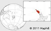 Blank Location Map of Northland