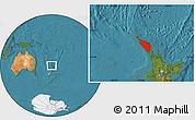 Satellite Location Map of Northland
