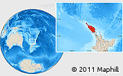 Shaded Relief Location Map of Northland