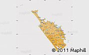 Political Shades Map of Northland, cropped outside