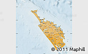 Political Shades Map of Northland, lighten