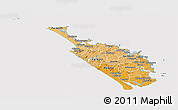 Political Shades Panoramic Map of Northland, cropped outside
