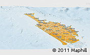 Political Shades Panoramic Map of Northland, lighten