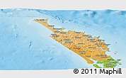 Political Shades Panoramic Map of Northland, physical outside
