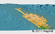 Political Shades Panoramic Map of Northland, satellite outside