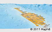 Political Shades Panoramic Map of Northland, shaded relief outside