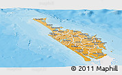 Political Shades Panoramic Map of Northland, single color outside