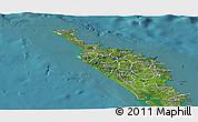 Satellite Panoramic Map of Northland