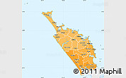 Political Shades Simple Map of Northland, single color outside
