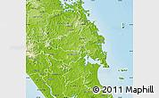 Physical Map of Whangarei