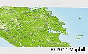 Physical Panoramic Map of Whangarei
