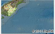 Physical 3D Map of Otago, darken