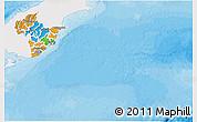 Political 3D Map of Otago, single color outside