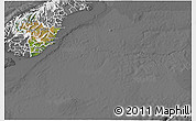 Satellite 3D Map of Otago, desaturated