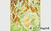 Physical Map of Central Otago