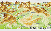 Physical Panoramic Map of Central Otago