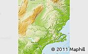 Physical Map of Dunedin