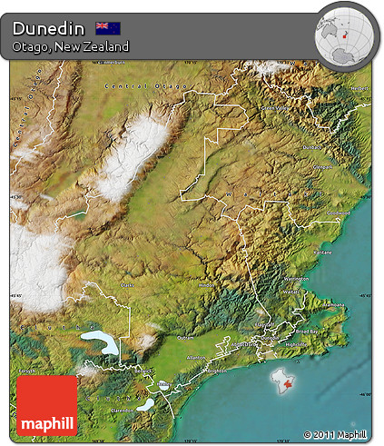 Free Satellite Map of Dunedin