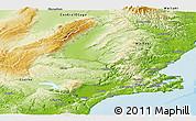 Physical Panoramic Map of Dunedin
