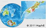 Physical Location Map of Waitaki, highlighted parent region