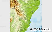 Physical Map of Waitaki