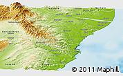 Physical Panoramic Map of Waitaki
