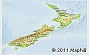 Physical Panoramic Map of New Zealand, lighten