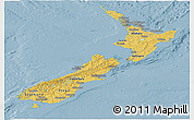Savanna Style Panoramic Map of New Zealand