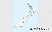 Gray Simple Map of New Zealand, single color outside