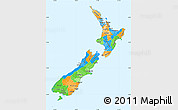 Political Simple Map of New Zealand