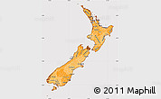Political Shades Simple Map of New Zealand, cropped outside