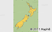 Savanna Style Simple Map of New Zealand, cropped outside