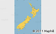 Savanna Style Simple Map of New Zealand, single color outside