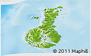 Physical 3D Map of Auckland islands