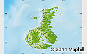 Physical Map of Auckland islands