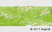Physical Panoramic Map of Gore