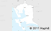 Silver Style Simple Map of Invercargill