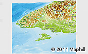 Physical Panoramic Map of Southland