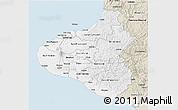 Classic Style 3D Map of Taranaki