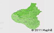 Political Shades 3D Map of Taranaki, cropped outside