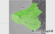 Political Shades 3D Map of Taranaki, darken, desaturated