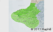 Political Shades 3D Map of Taranaki, lighten, semi-desaturated