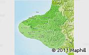 Political Shades 3D Map of Taranaki, physical outside
