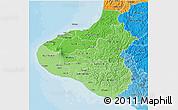Political Shades 3D Map of Taranaki