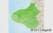 Political Shades 3D Map of Taranaki, shaded relief outside