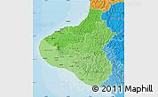 Political Shades Map of Taranaki