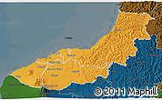 Political 3D Map of New Plymouth, darken