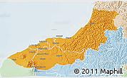 Political 3D Map of New Plymouth, lighten
