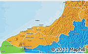 Political 3D Map of New Plymouth
