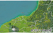 Satellite 3D Map of New Plymouth
